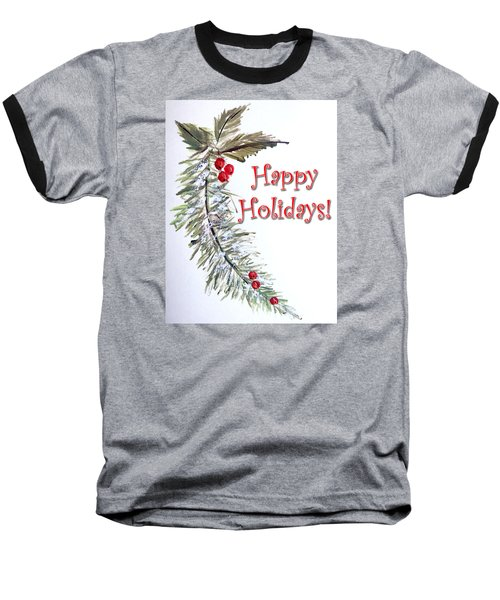 Holidays Card - 3 Baseball T-Shirt
