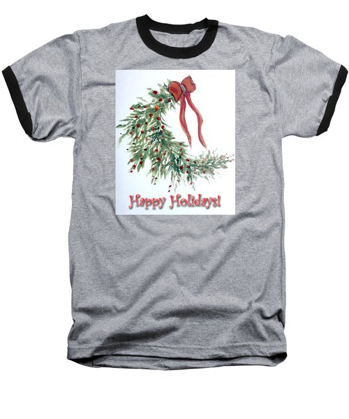 Holidays Card - 4 Baseball T-Shirt