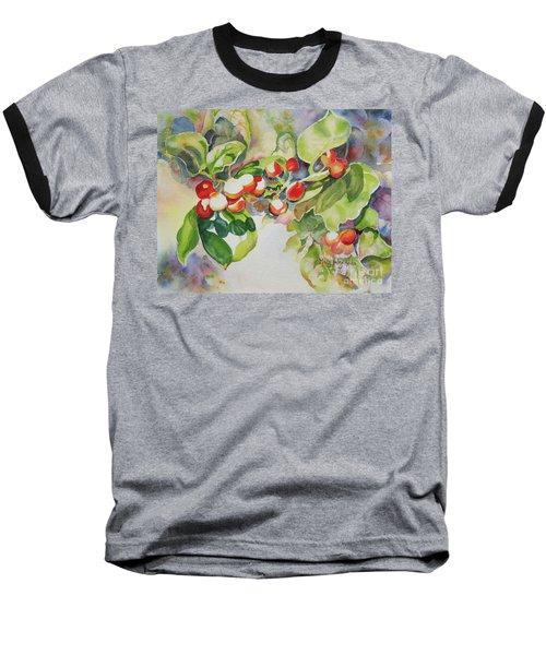 Holly Berries Baseball T-Shirt