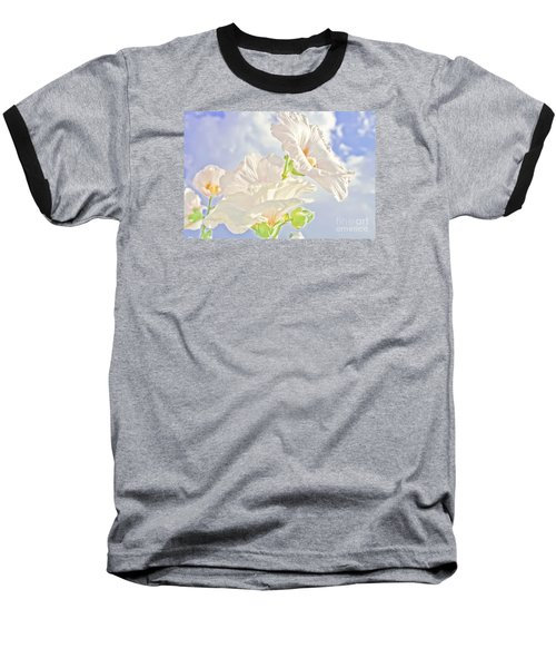 Hollyhocks And Sky Baseball T-Shirt