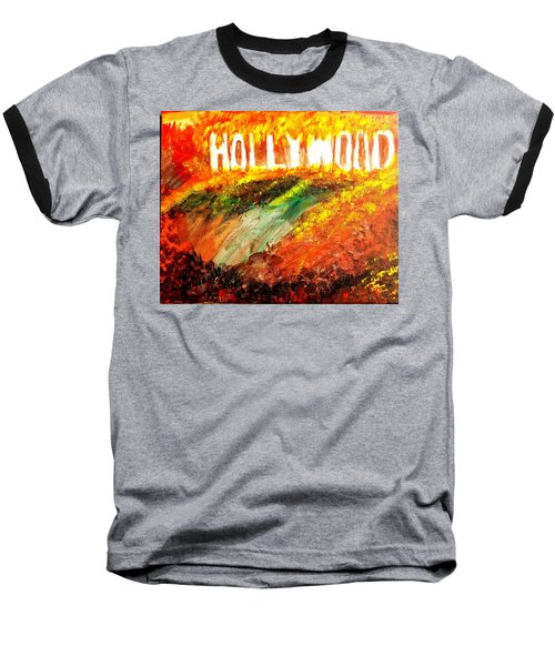 Hollywood Burning Baseball T-Shirt