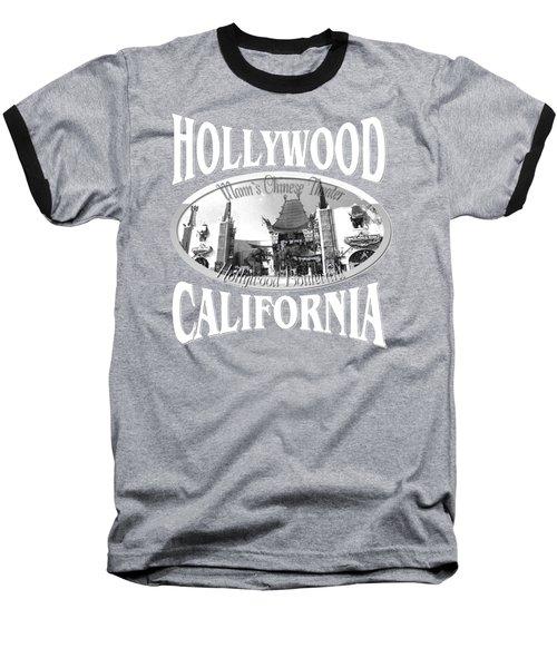 Hollywood California Design Baseball T-Shirt
