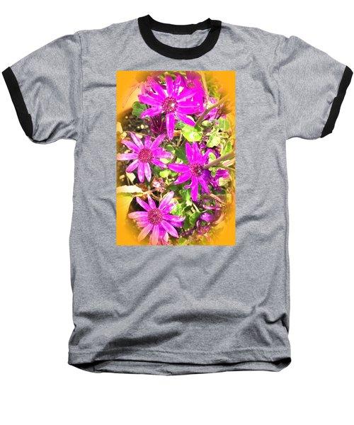 Hollywood Flower Stars Baseball T-Shirt