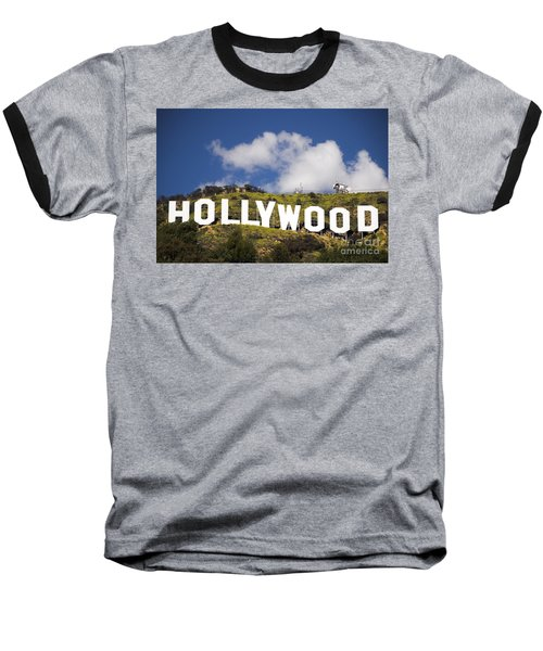Hollywood Sign Baseball T-Shirt