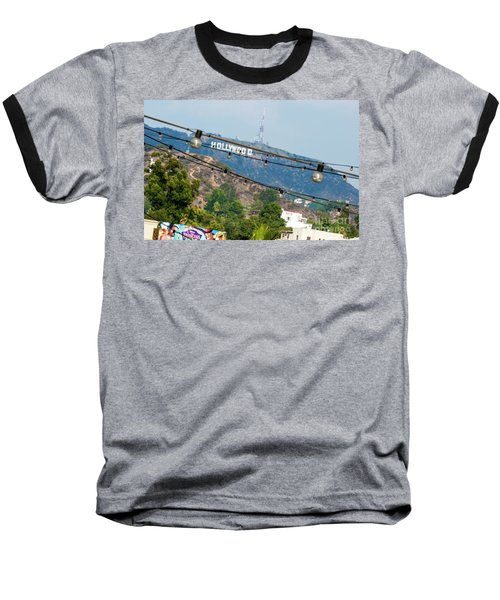 Baseball T-Shirt featuring the photograph Hollywood Sign On The Hill 1 by Micah May