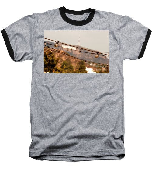 Baseball T-Shirt featuring the photograph Hollywood Sign On The Hill 2 by Micah May
