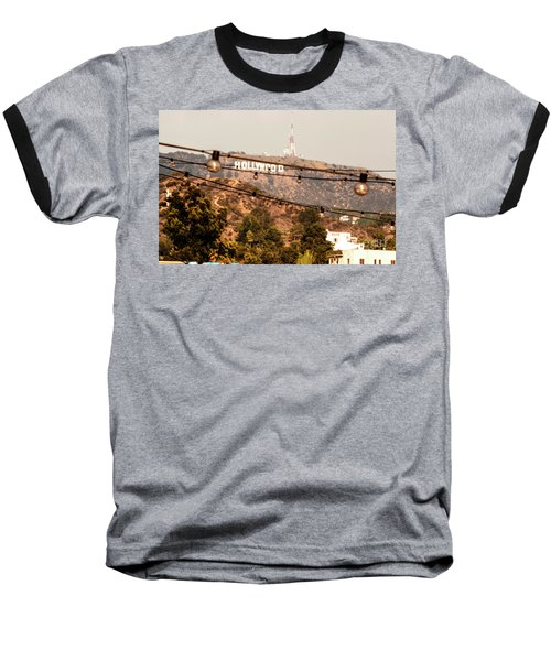 Baseball T-Shirt featuring the photograph Hollywood Sign On The Hill 3 by Micah May