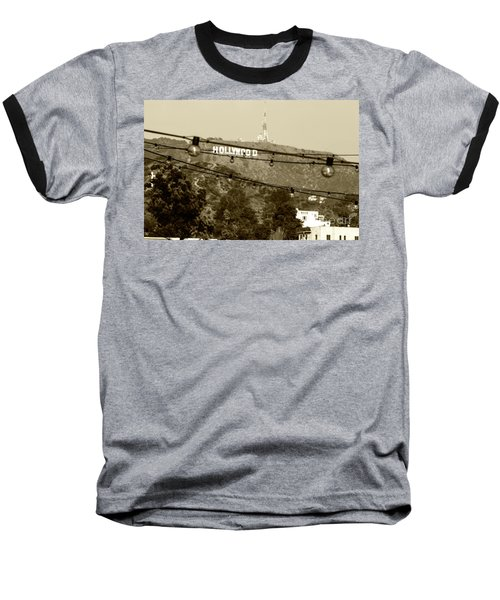 Baseball T-Shirt featuring the photograph Hollywood Sign On The Hill 4 by Micah May