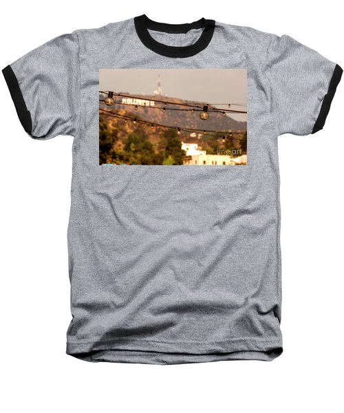 Baseball T-Shirt featuring the photograph Hollywood Sign On The Hill 5 by Micah May