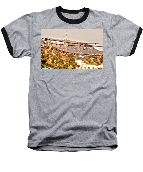 Baseball T-Shirt featuring the photograph Hollywood Sign On The Hill 6 by Micah May