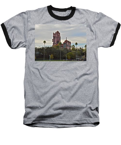 Hollywood Studios Tower Of Terror Baseball T-Shirt by Carol  Bradley