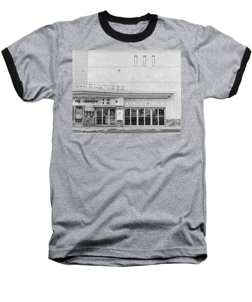 Hollywood Theater Marquee Baseball T-Shirt