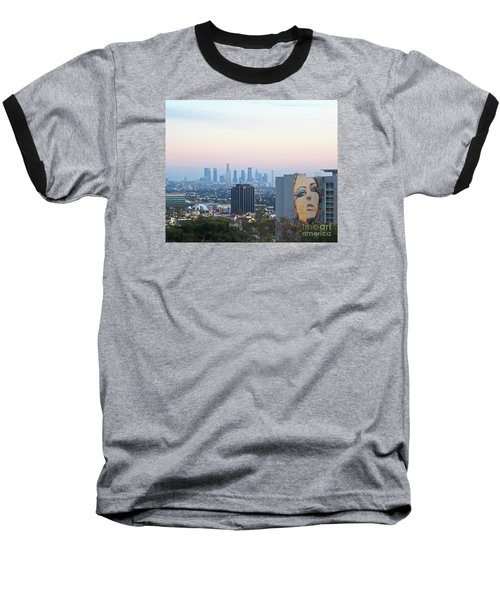 Baseball T-Shirt featuring the photograph Hollywood View From Yamashiro's by Cheryl Del Toro