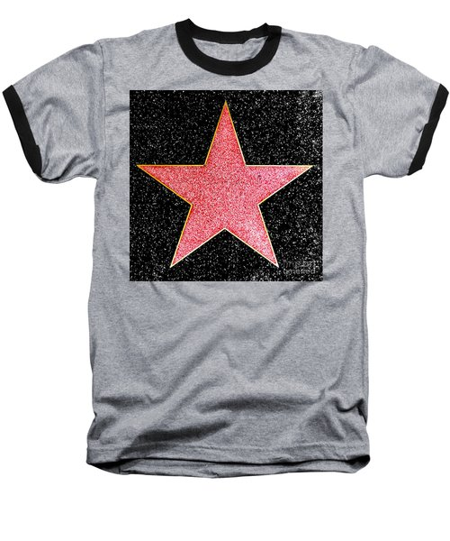 Hollywood Walk Of Fame Star Baseball T-Shirt