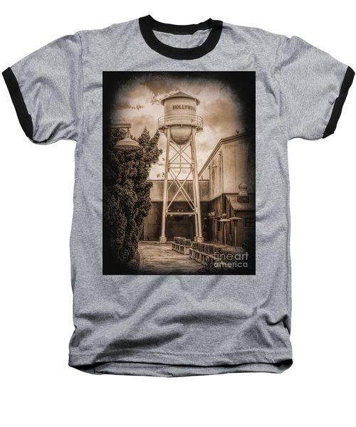 Hollywood Water Tower 2 Baseball T-Shirt