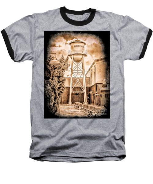 Hollywood Water Tower Baseball T-Shirt