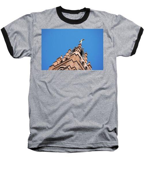 Huguenot Church Baseball T-Shirt by Ed Waldrop