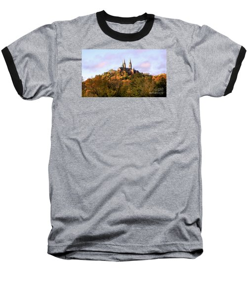 Holy Hill Basilica, National Shrine Of Mary Baseball T-Shirt by Ricky L Jones