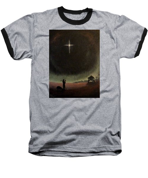 Baseball T-Shirt featuring the painting Holy Night by Dan Wagner