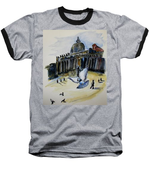 Holy Pigeons Baseball T-Shirt