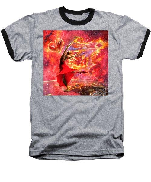 Holy Spirit Fire Baseball T-Shirt