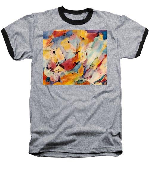 Homage A Kandinsky Baseball T-Shirt by Bernard Goodman