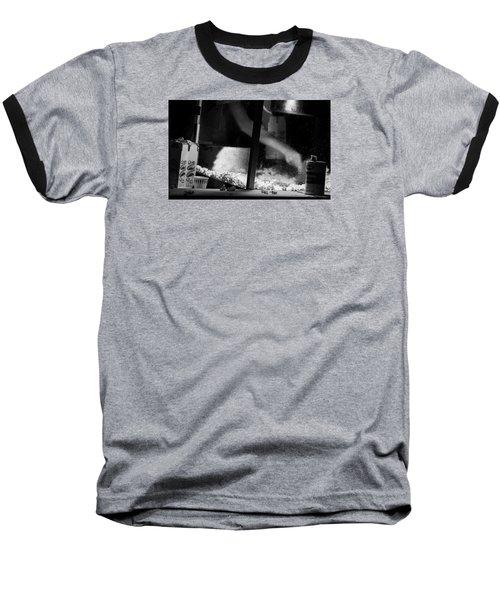 Homage To Movie Popcorn Baseball T-Shirt by David Gilbert