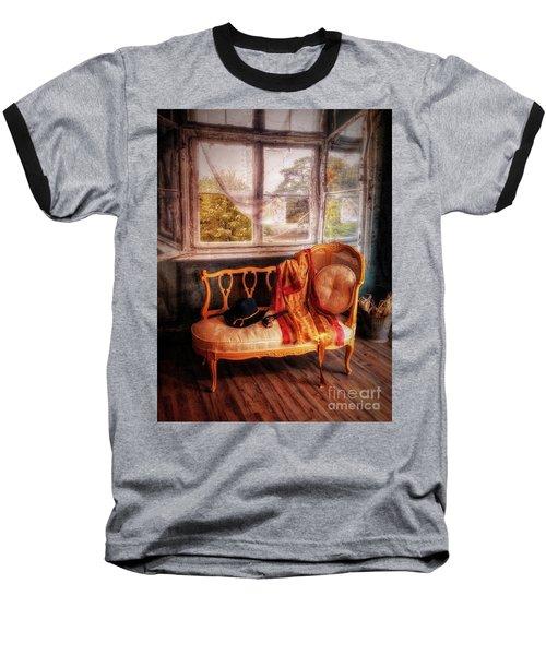 Home  At Last ... Baseball T-Shirt by Chuck Caramella