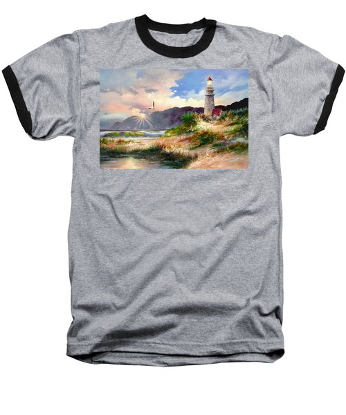Home For The Night Baseball T-Shirt by Ron Chambers