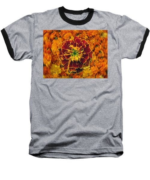 Home Grown Marigold Baseball T-Shirt
