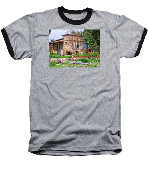 Baseball T-Shirt featuring the photograph Home In Greece by Roberta Byram