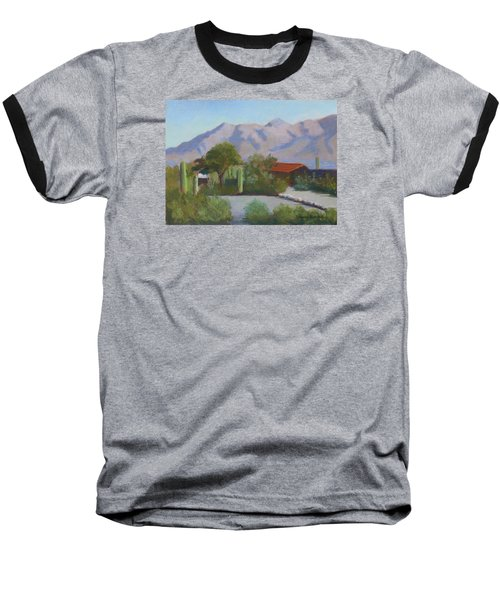 Home In The Catalinas Baseball T-Shirt by Susan Woodward