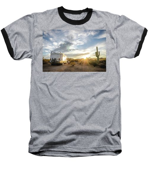 Baseball T-Shirt featuring the photograph Home In The Desert by Margaret Pitcher