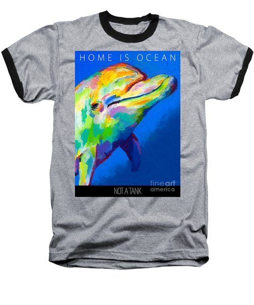Home Is Ocean Baseball T-Shirt by Stephen Anderson