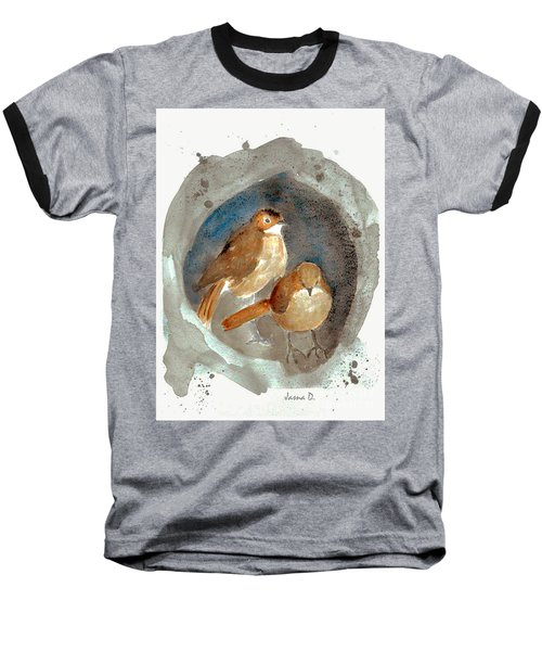 Baseball T-Shirt featuring the painting Home by Jasna Dragun