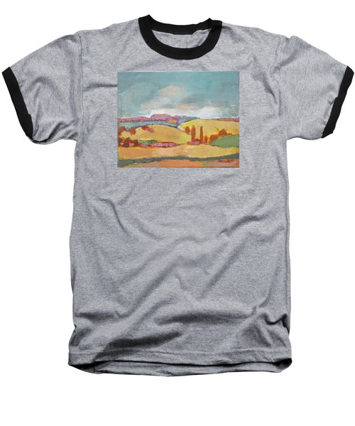 Home Land Baseball T-Shirt by Becky Kim