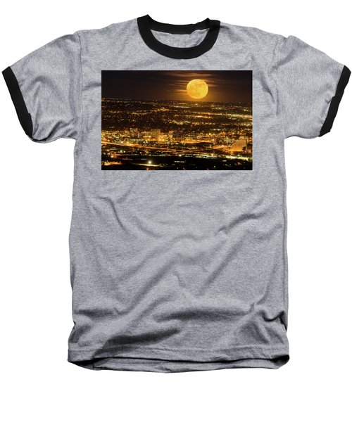 Home Sweet Hometown Bathed In The Glow Of The Super Moon  Baseball T-Shirt