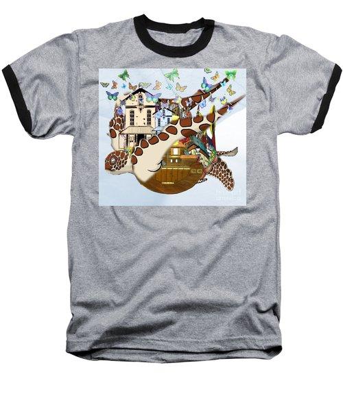 Home Within Home Baseball T-Shirt by Belinda Threeths