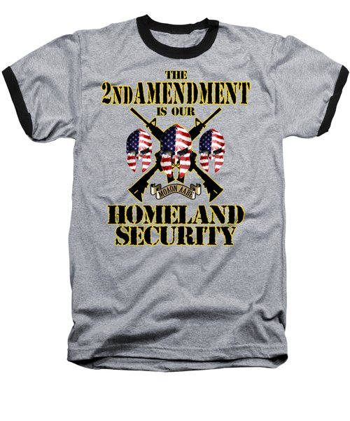Baseball T-Shirt featuring the tapestry - textile Homeland Security by Don Olea