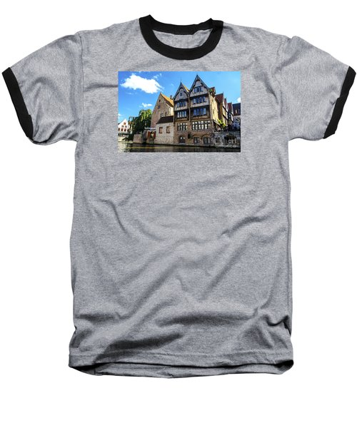 Baseball T-Shirt featuring the photograph Homes Of Bruges by Pravine Chester