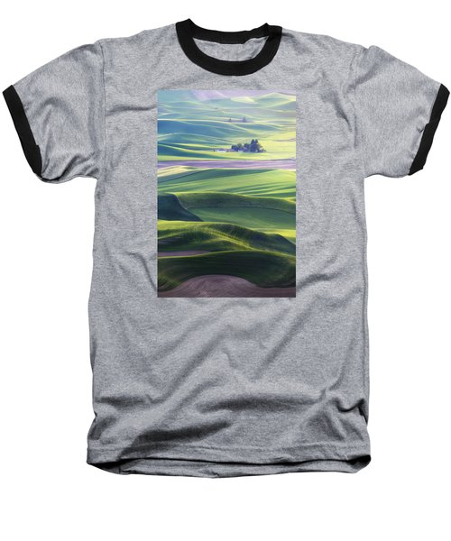Homestead In The Hills Baseball T-Shirt by Ryan Manuel