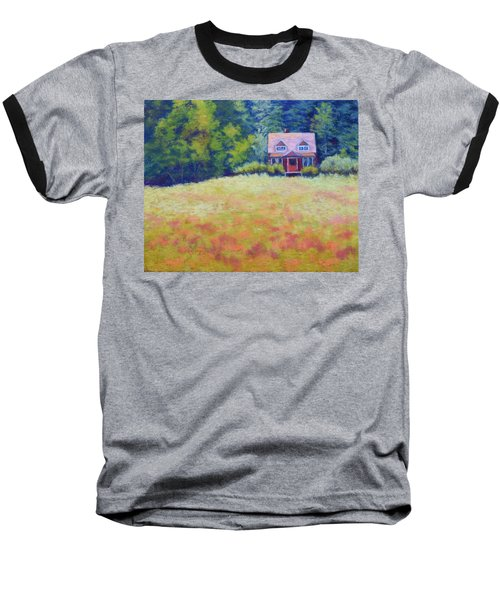 Baseball T-Shirt featuring the painting Homestead by Nancy Jolley