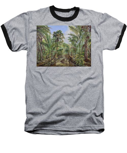 Baseball T-Shirt featuring the painting Homestead Tree Farm by AnnaJo Vahle