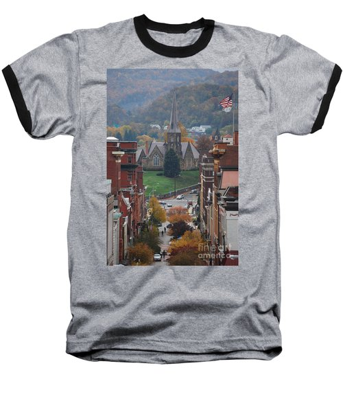 My Hometown Cumberland, Maryland Baseball T-Shirt by Eric Liller