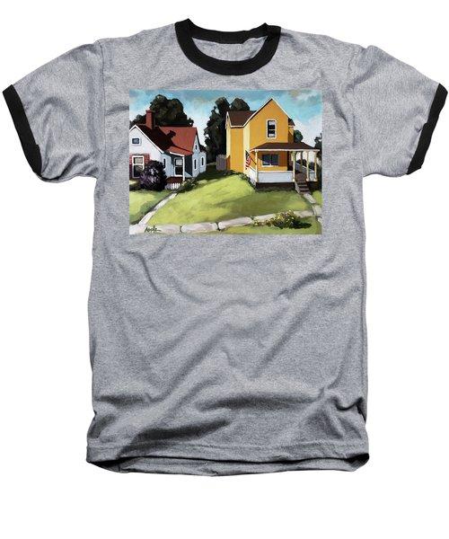 Hometown - Urban Scene Oil Painting Baseball T-Shirt