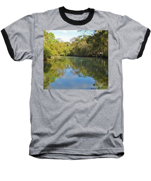 Homosassa River Baseball T-Shirt by D Hackett
