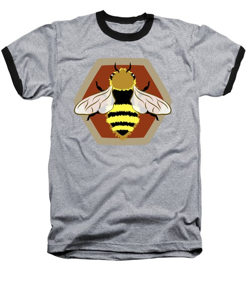 Honey Bee Graphic Baseball T-Shirt by MM Anderson