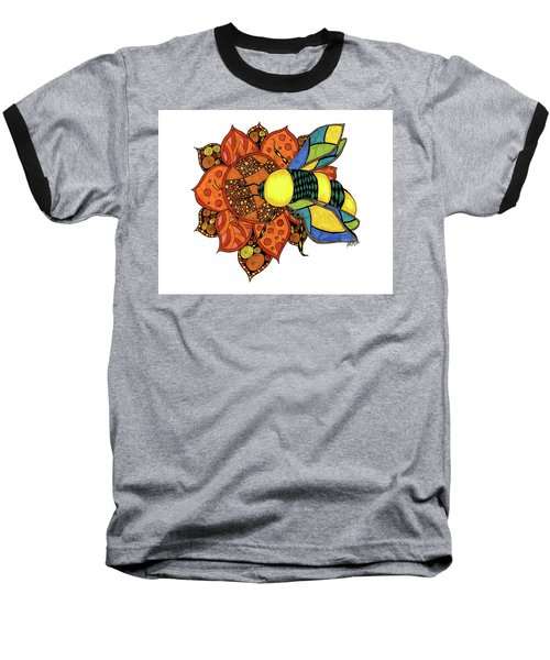 Honeybee On A Flower Baseball T-Shirt