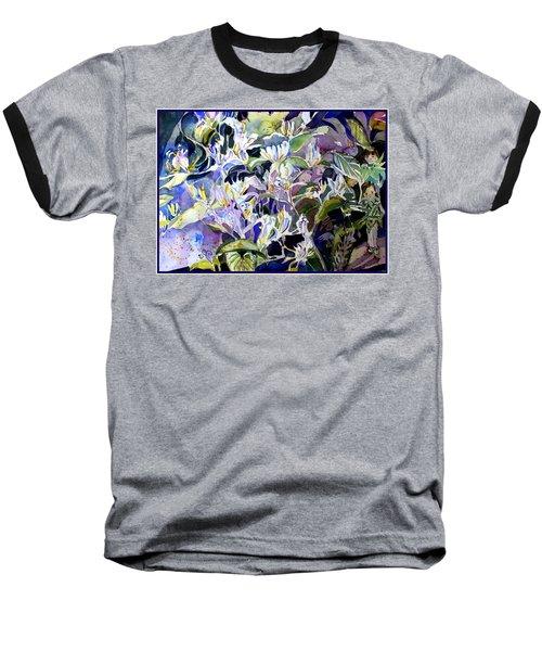 Honeysuckle Fairies Baseball T-Shirt by Mindy Newman