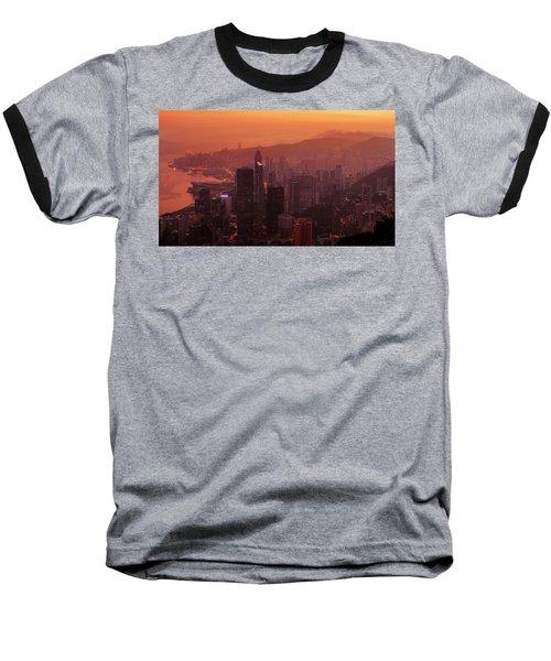 Hong Kong City View From Victoria Peak Baseball T-Shirt